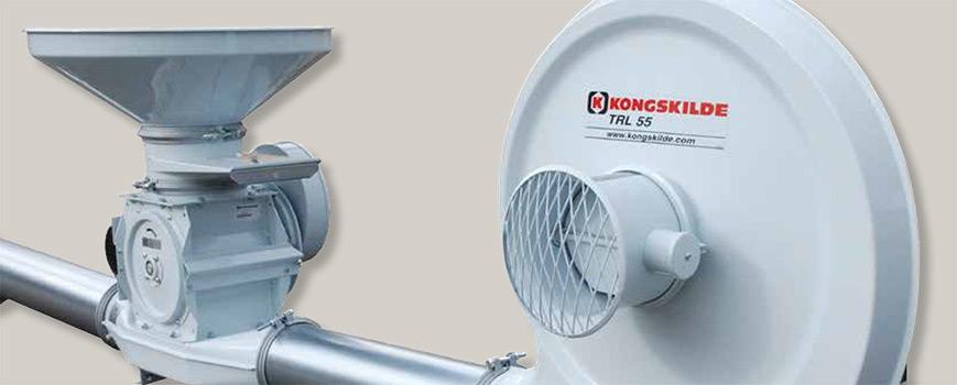 Grain Blower System : Kongskilde high pressure blower grain equipment from plot