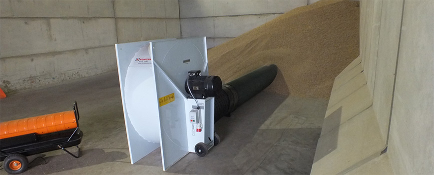 Horizontal Grain Drying System from Plot Feeds Ltd